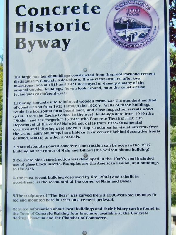Concrete Historic Byway Marker image. Click for full size.