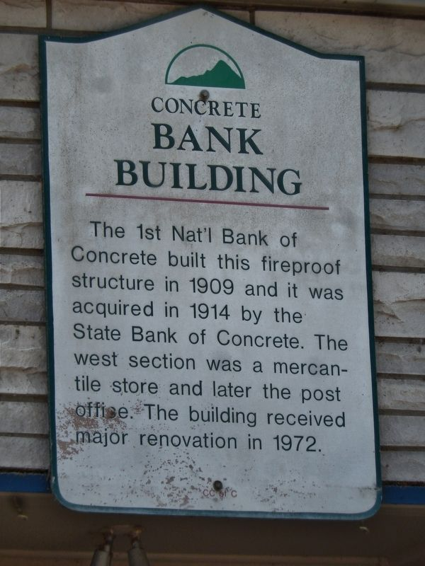Concrete Bank Building Marker image. Click for full size.