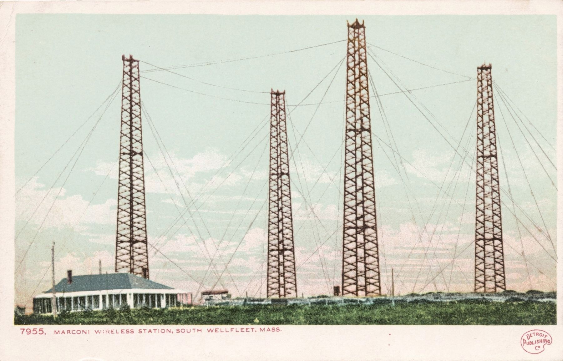 <i>Marconi Wireless Station, South Wellfleet, Mass.</i> image. Click for full size.