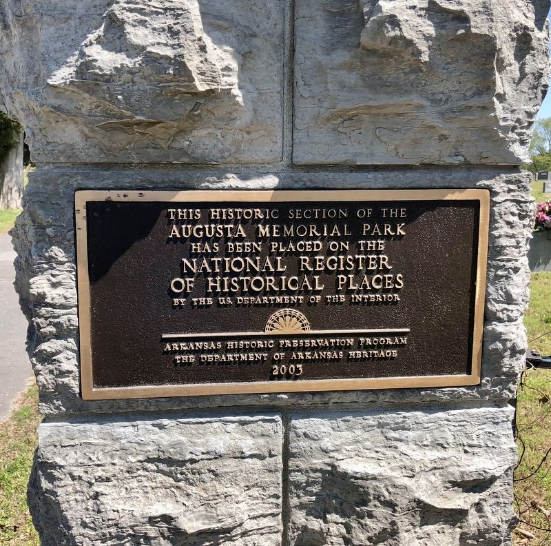 Augusta Memorial Park NRHP plaque. image. Click for full size.