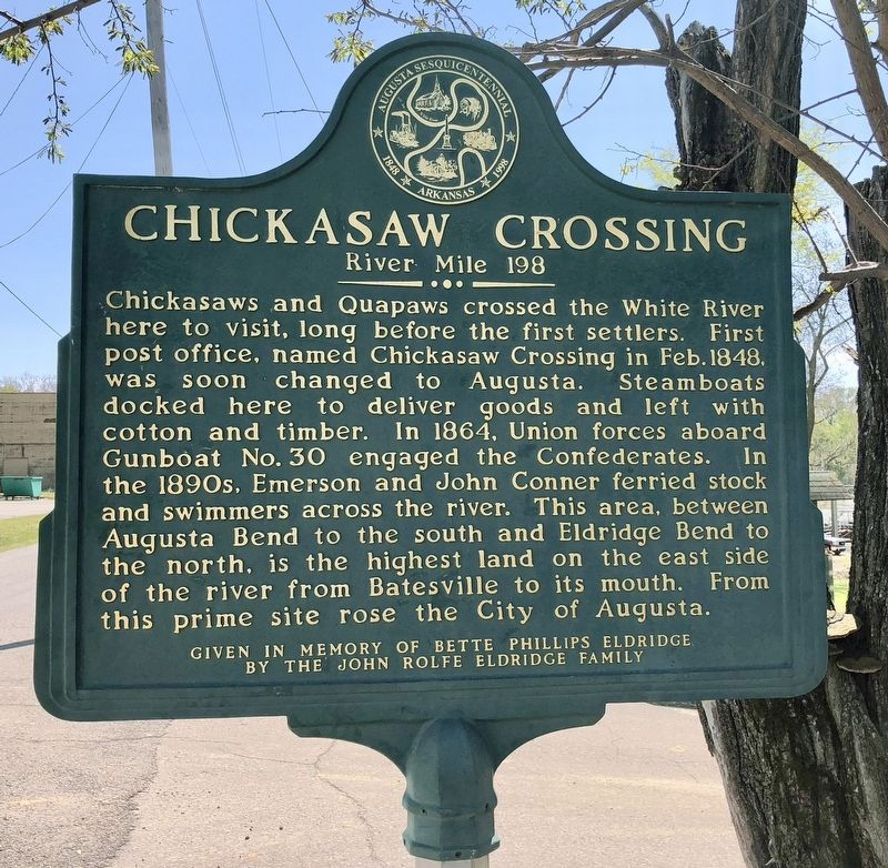 Chickasaw Crossing Marker image. Click for full size.