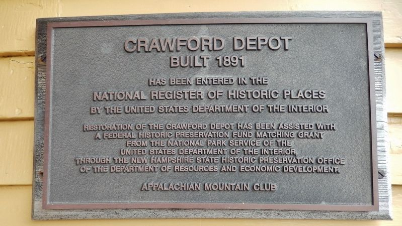 Crawford Depot Marker image. Click for full size.