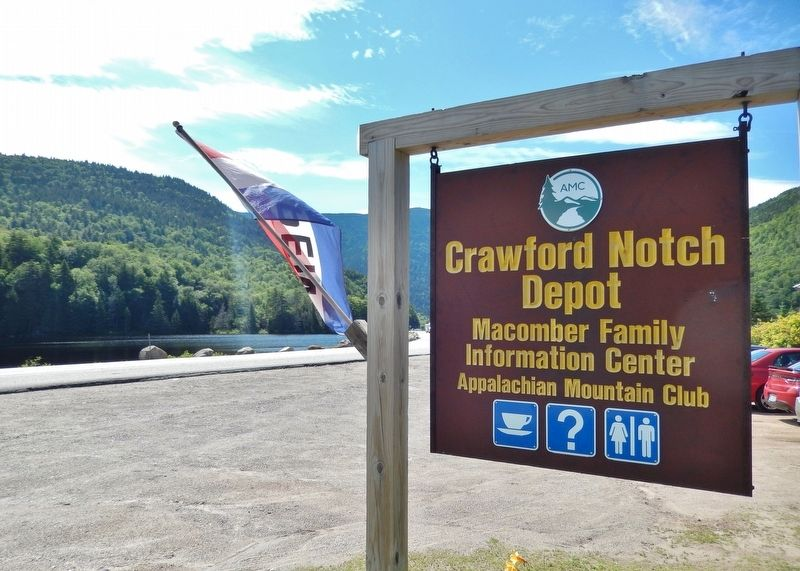 Crawford Depot Sign (<i>enter here from Crawford Notch Road / US Highway 302</i>) image. Click for full size.
