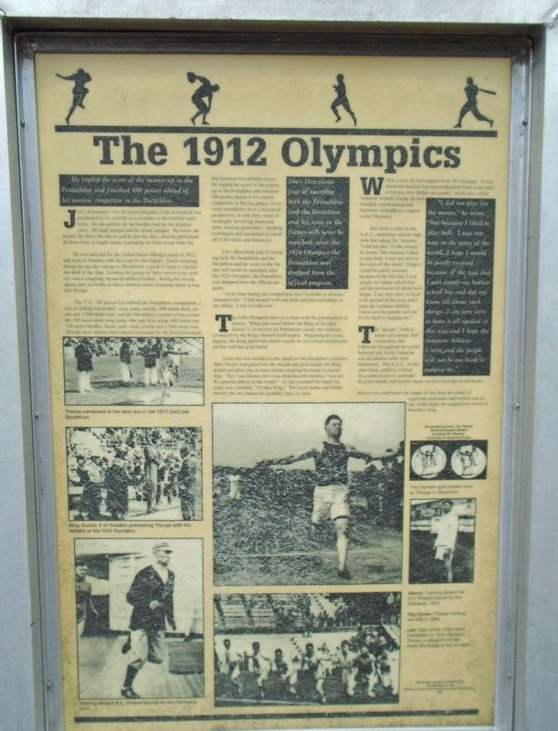 The 1912 Olympics Marker image. Click for full size.