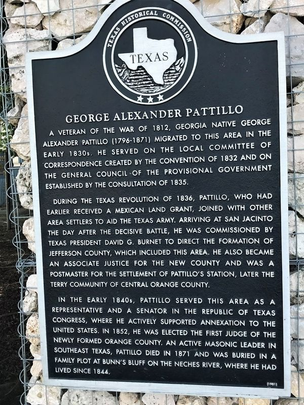 George Alexander Pattillo Marker image. Click for full size.
