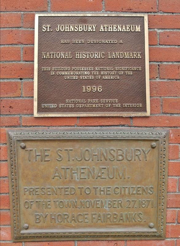 St. Johnsbury Athenaeum Marker image. Click for full size.