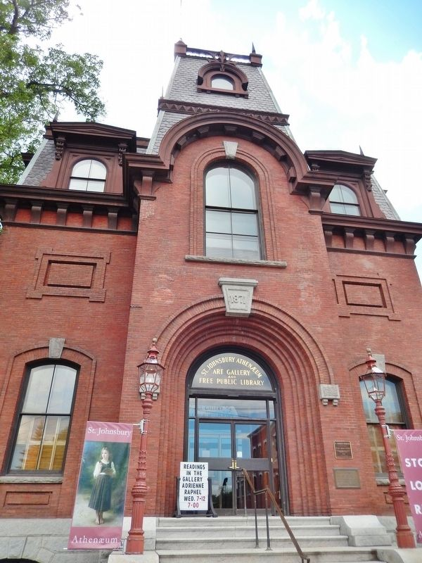 St. Johnsbury Athenaeum (<i>front view</i>) image. Click for full size.