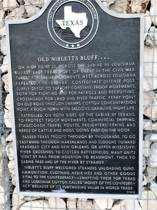 Old Niblett's Bluff, C.S.A. Marker image. Click for full size.
