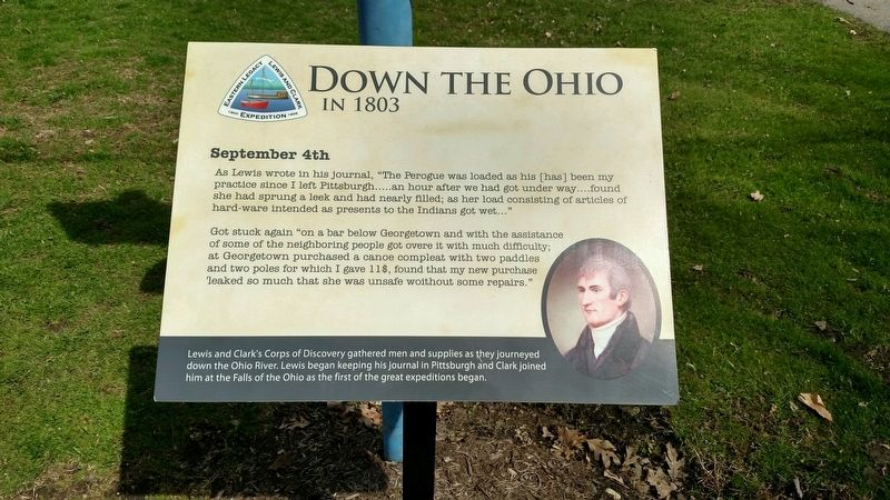 Down The Ohio Marker image. Click for full size.