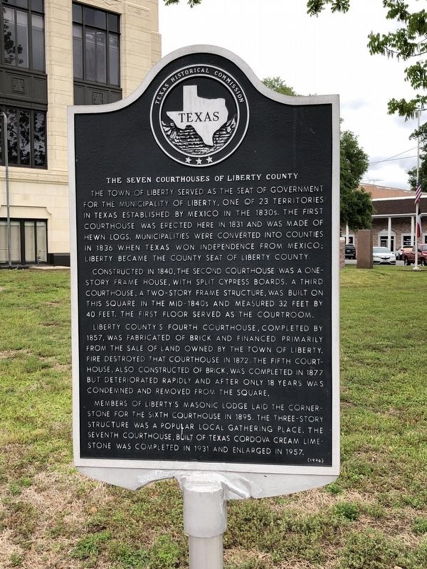 Seven Courthouses of Liberty County Marker image. Click for full size.