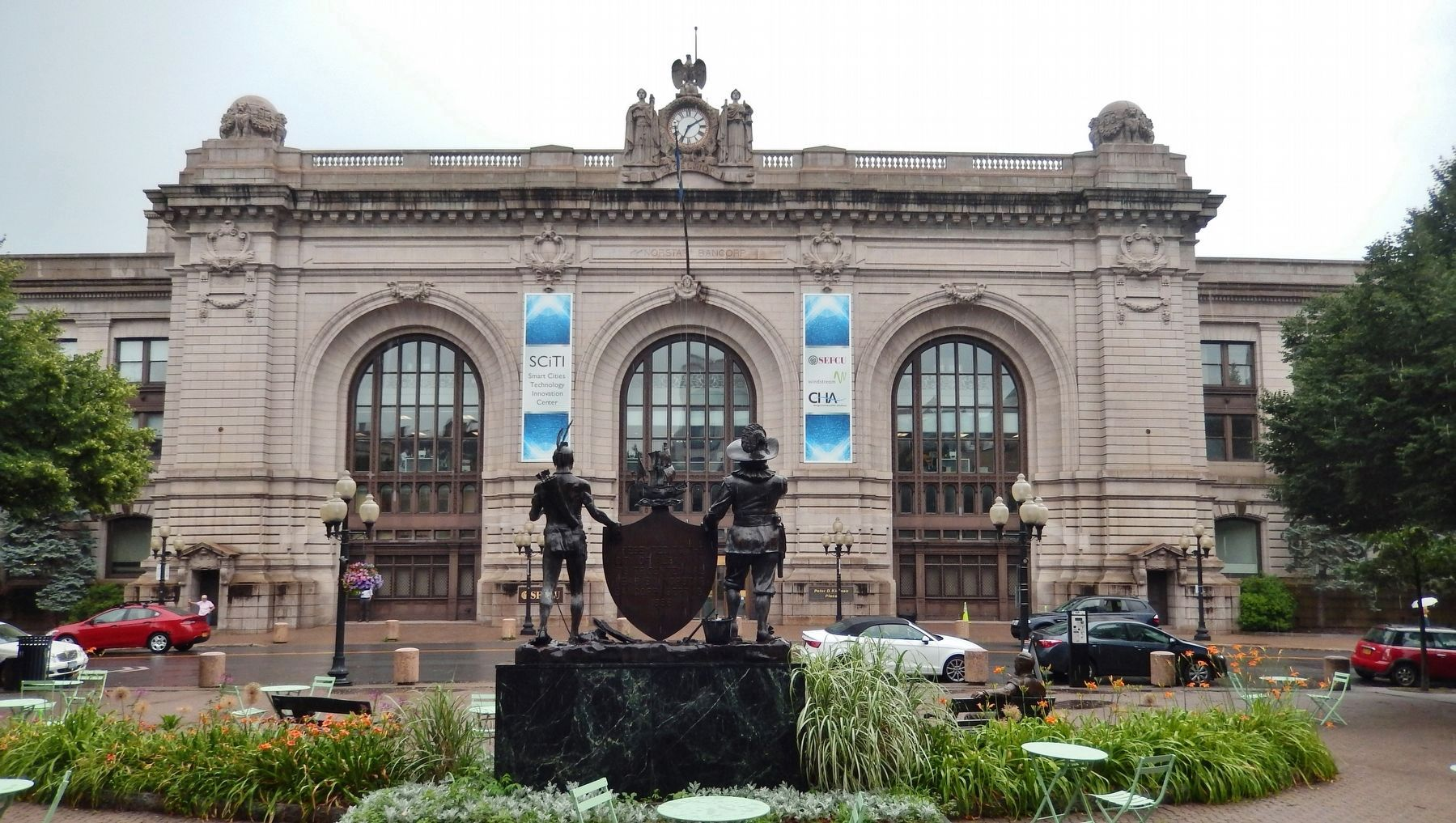 Kiernan Plaza / Union Station (<i>view from Tricentannial Square near marker</i>) image. Click for full size.
