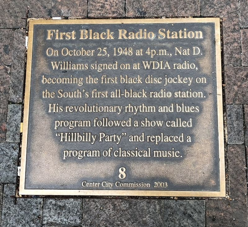 First Black Radio Station Marker image. Click for full size.