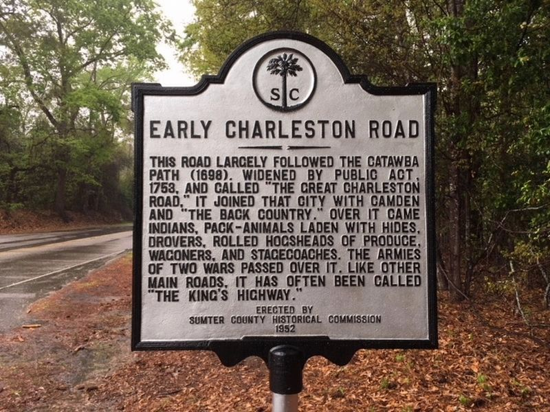 Early Charleston Road Marker image. Click for full size.