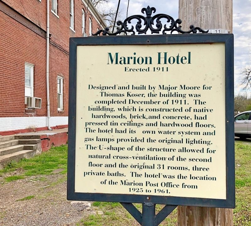 Marion Hotel Marker image. Click for full size.