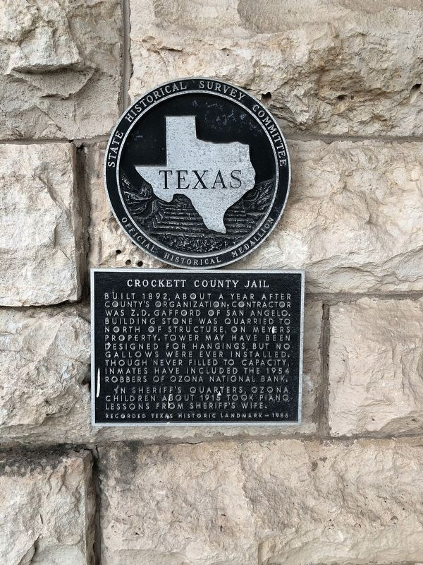 Crockett County Jail Marker image. Click for full size.
