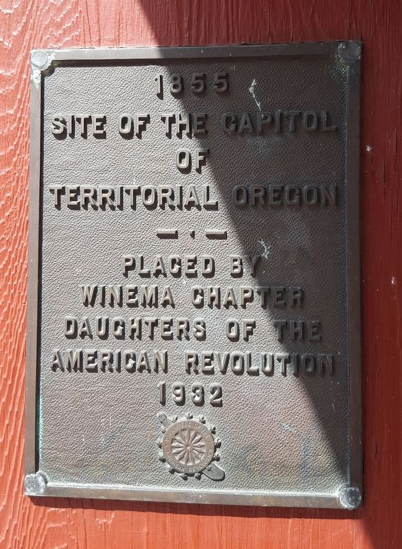 Site of the Capitol of Territorial Oregon Marker image. Click for full size.
