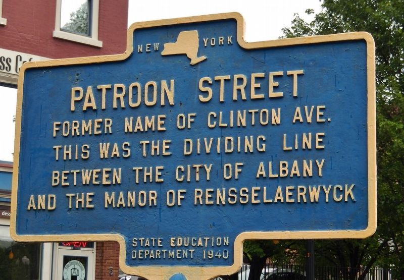 Patroon Street Marker image. Click for full size.