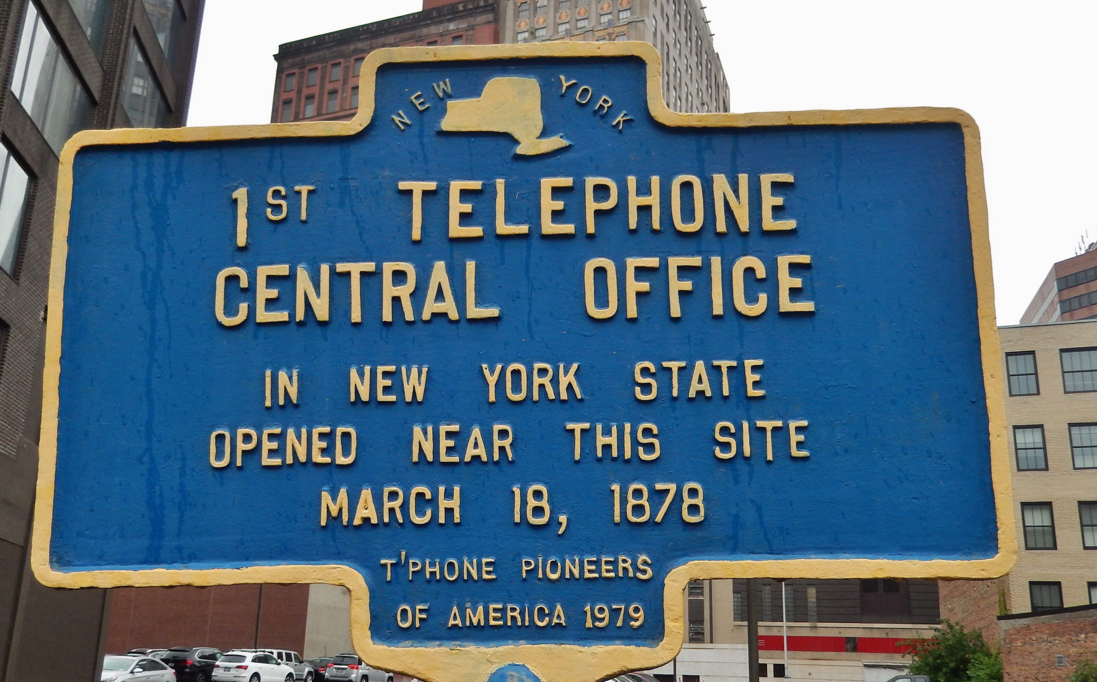 1st Telephone Central Office in New York State Marker