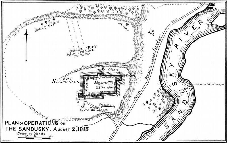 Plan of Operations<br>The Sandusky<br>August 2, 1813 image. Click for full size.