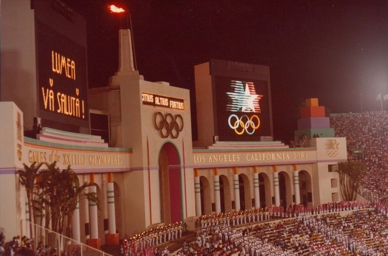 1984 Olympics Closing Ceremony image. Click for full size.