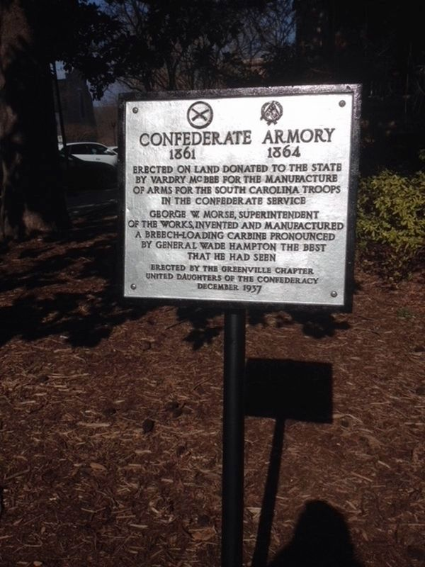 Confederate Armory Marker image. Click for full size.