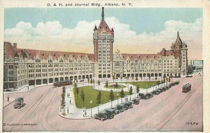 <i>D.&H. and Journal Bldg., Albany, N.Y.</i> image. Click for full size.