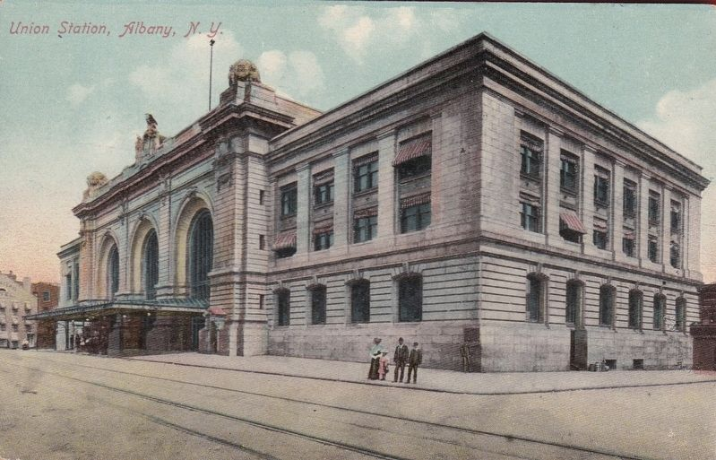 <i>Union Station, Albany, N.Y.</i> image. Click for full size.