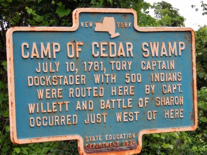 Camp of Cedar Swamp Marker image. Click for full size.