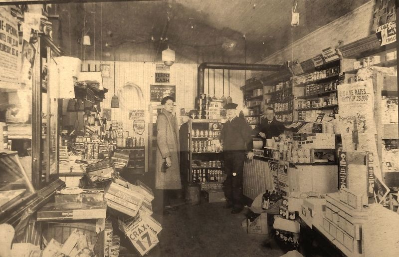 Marker detail: Planck's Store, 1936 image. Click for full size.