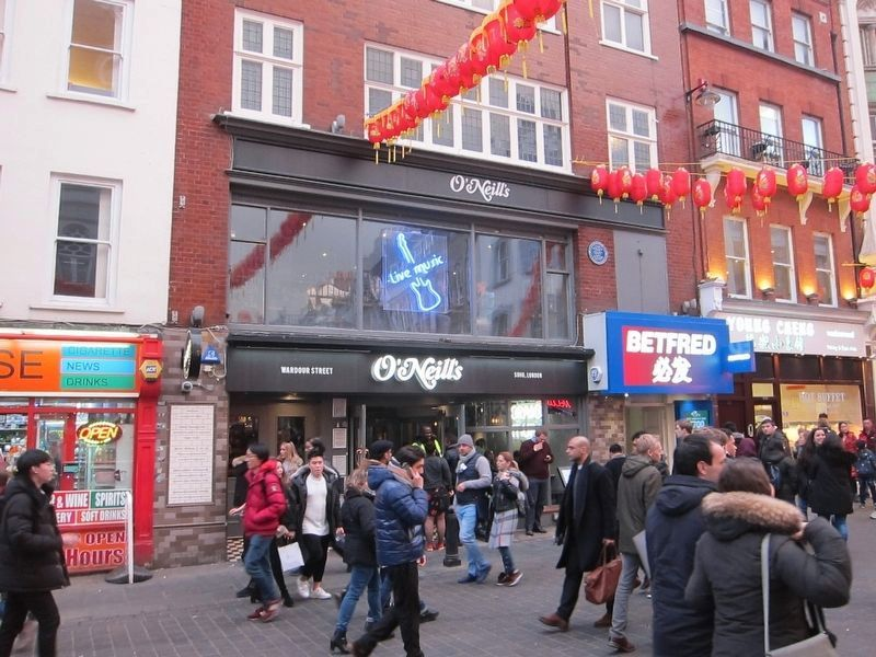 Former Wardour Street Clubs Marker - Wide View image. Click for full size.