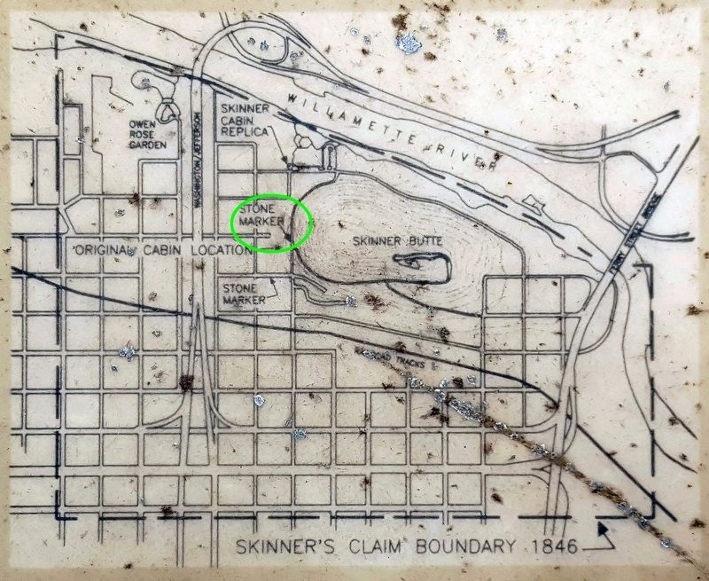 Skinner Butte Park historical marker map image. Click for full size.