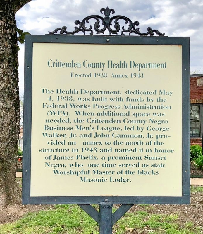 Crittenden County Health Department Marker image. Click for full size.