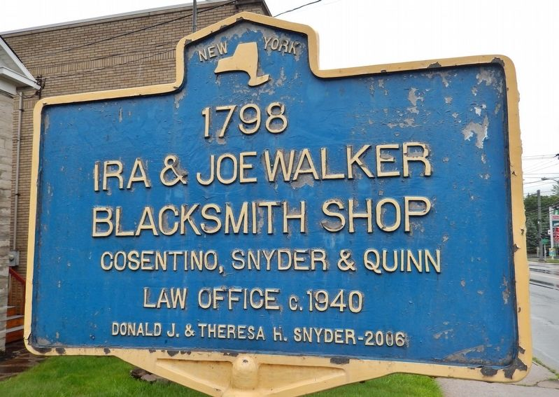 Ira & Joe Walker Blacksmith Shop 1798 Marker image. Click for full size.