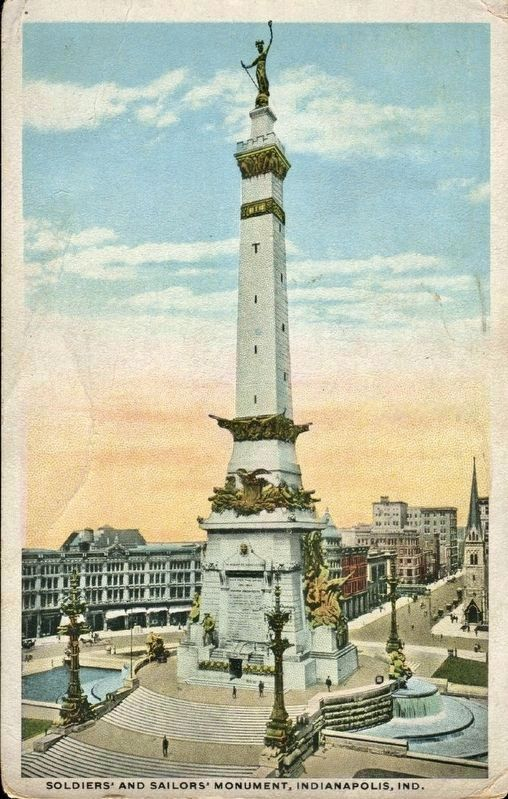 <i>Soldiers&#39; and Sailors&#39; Monument, Indianapolis, Ind.</i> image. Click for full size.