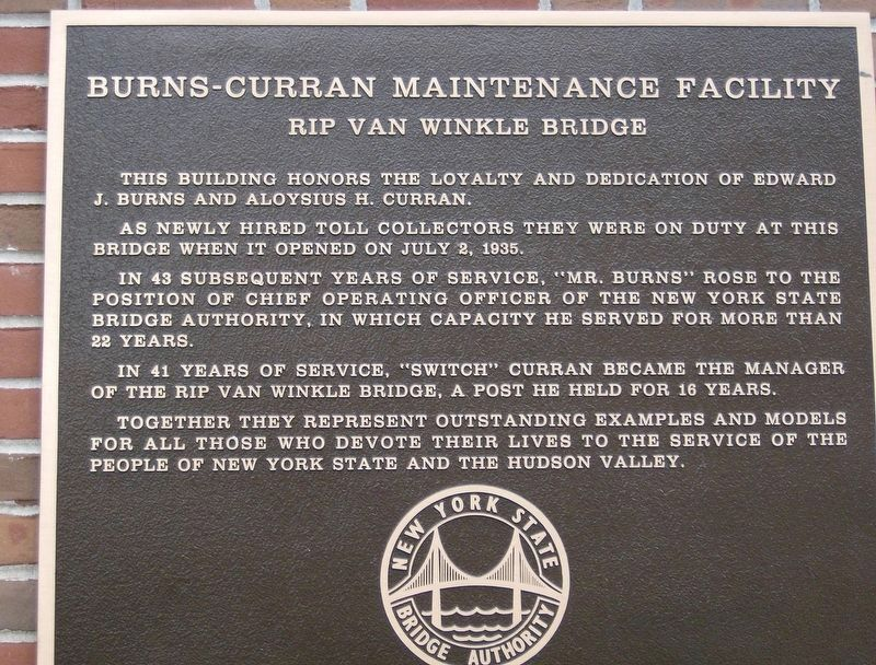 Burns-Curran Maintenance Facility Marker image. Click for full size.