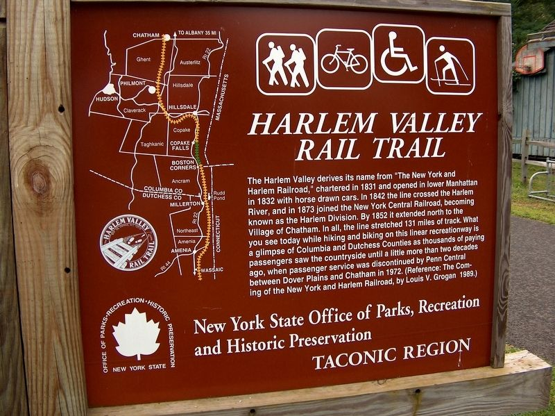 Harlem Valley Rail Trail Marker image. Click for full size.