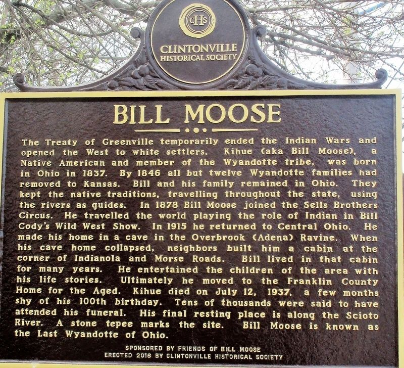 Bill Moose Marker image. Click for full size.