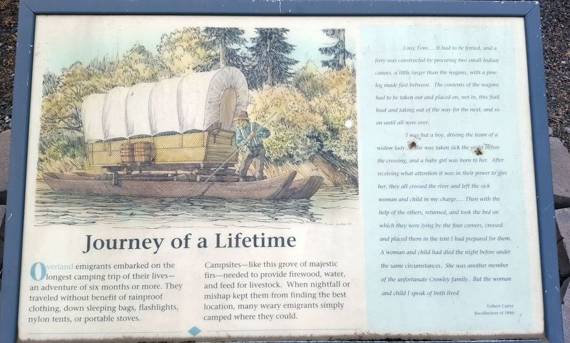 Journey of a Lifetime Marker image. Click for full size.