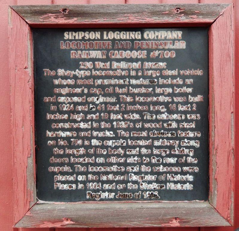 Simpson Logging Company Marker image. Click for full size.