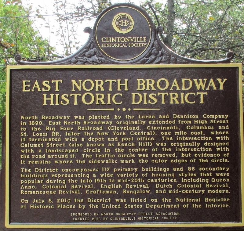 East North Broadway Historic District Marker image. Click for full size.