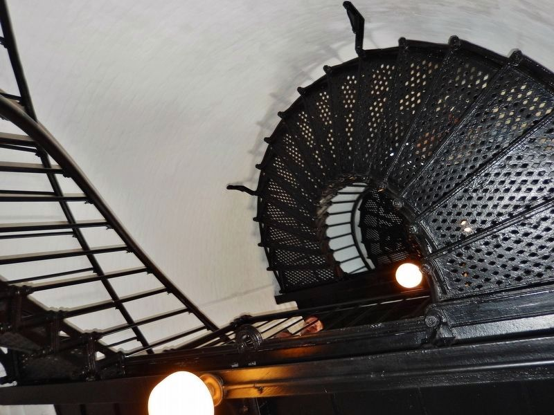 Yaquina Head Lighthouse Staircase image. Click for full size.