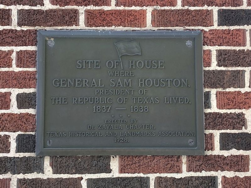 Site of General Sam Houston House Marker image. Click for full size.