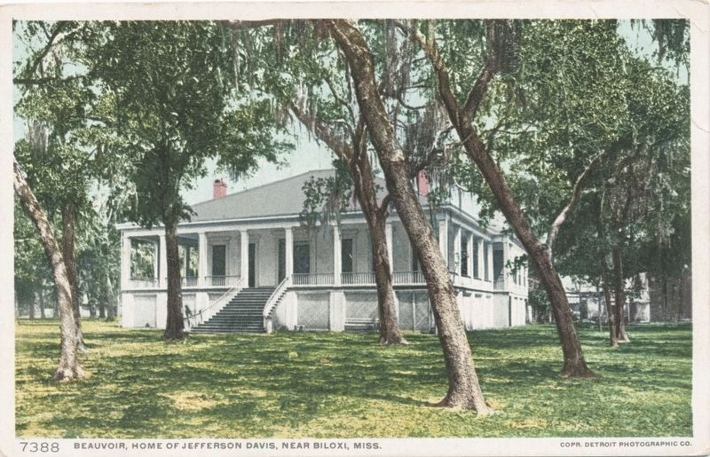 <i>Beauvoir, Home of Jefferson Davis, Near Biloxi, Miss.</i> image. Click for full size.