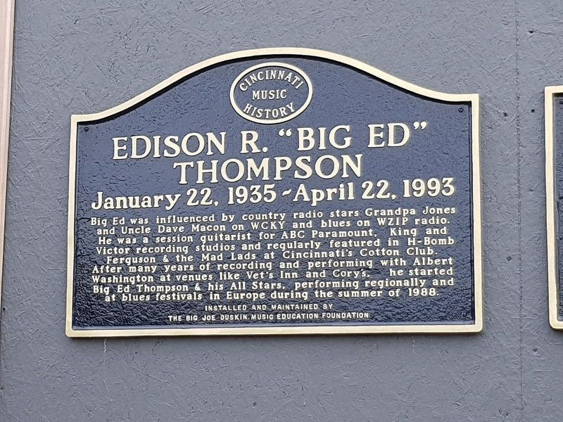 "Edison R. ""Big Ed"" Thompson Marker image. Click for full size."