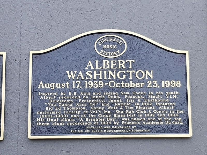 Albert Washington Marker image. Click for full size.