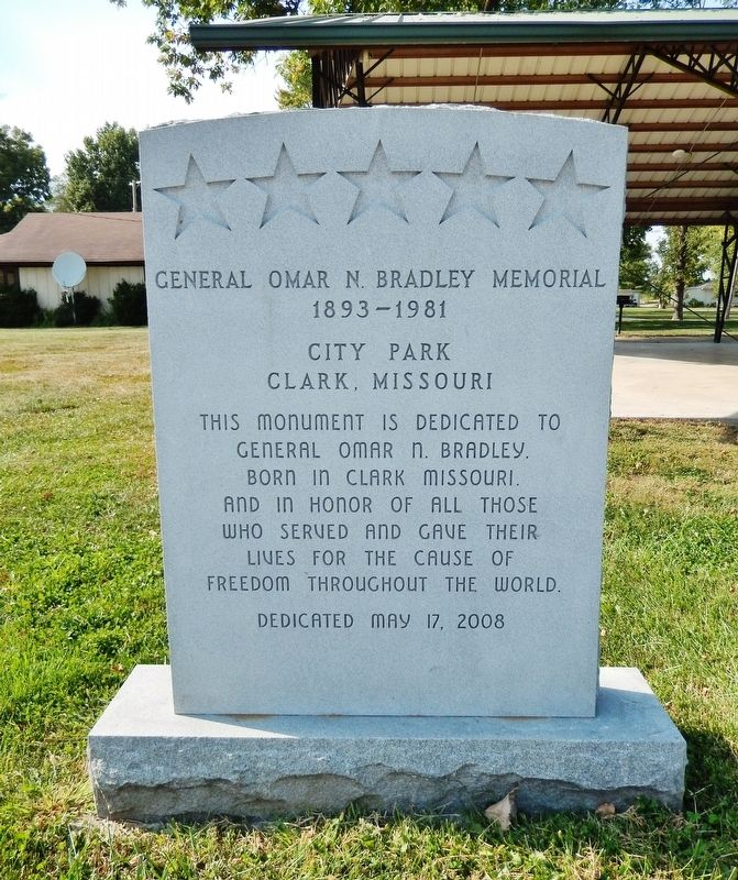 General Omar N. Bradley Memorial Marker image. Click for full size.