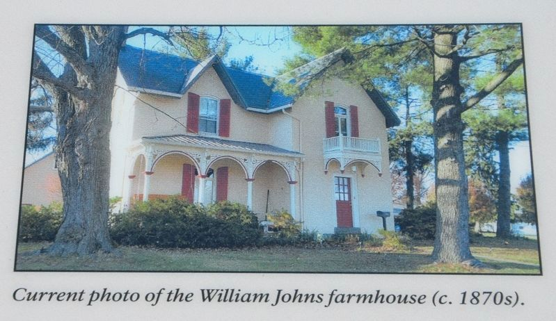 Current photo of the William Johns farmhouse (c. 1870s). image. Click for full size.
