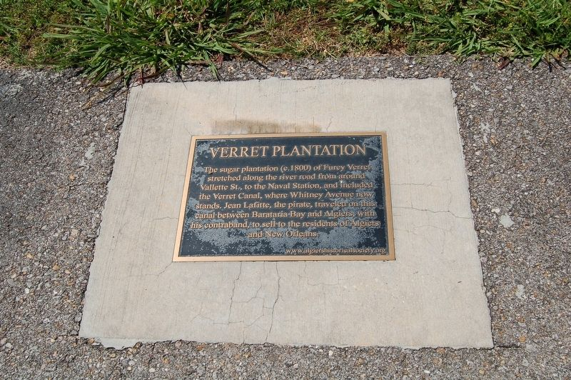Verret Plantation Marker image. Click for full size.