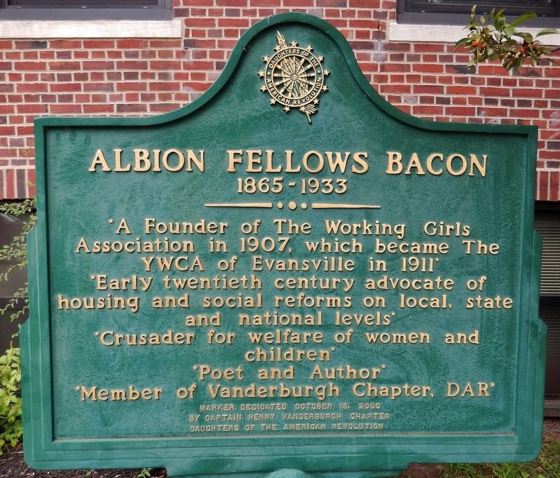 Albion Fellows Bacon Marker image. Click for full size.