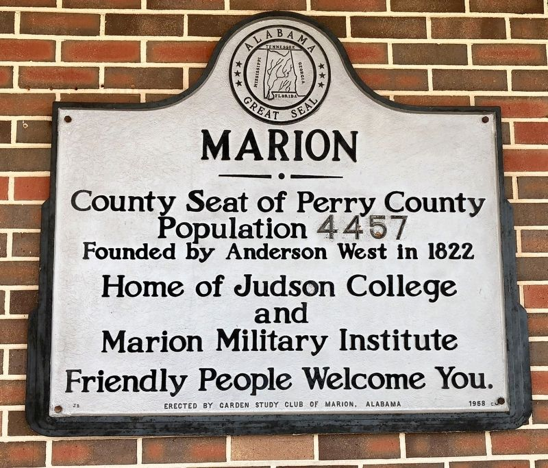 Marion Marker image. Click for full size.